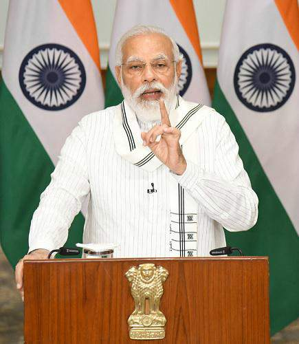 PM Modi calls upon the scientific community to strengthen value creation cycle in Science, Technology and Industry